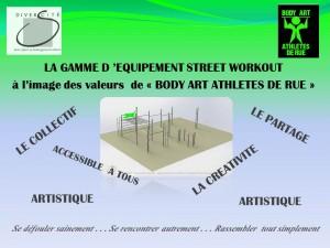 flyer gamme equipement BODY ART ATHLETES DE RUE